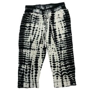 Hard Tail Forever Capri Crop Pants XS Tie Dye